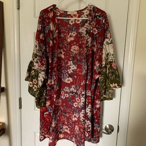 Umgee + open blouse kimono